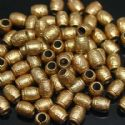 Beads, Acrylic, Gold colour, Cylindrical, 9mm x 7mm x 7mm, 8g, 40 Beads, (SLZ0208)